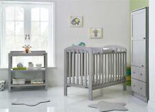 Obaby LILY 3 PIECE NURSERY ROOM SET Cot Bed Changer Wardrobe Warm Grey BN