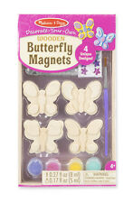 Melissa & Doug Decorate-Your-Own Wooden Butterfly Magnets #9515  BRAND NEW
