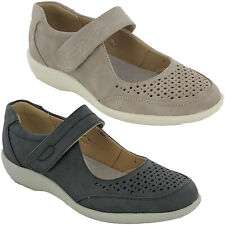 Cushion-Walk Casual Leisure Shoes Womens Touch Strap Flat Padded Comfort UK 3-8