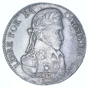 Better Date - 1828 Bolivia 8 Soles - SILVER *093