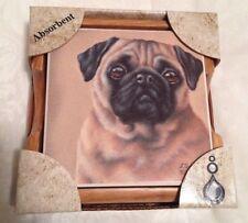 Absorbastone Pug Coasters