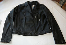 Kendall & Kylie Quilted Faux Leather Biker Jacket black Juniors L belted NWT*^