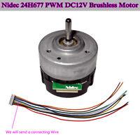 BLDC Nidec 24H677 PWM DC 12V Brushless Motor CW/CCW Rotation Speed Signal Output