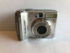 Canon PowerShot A560 7.1MP Digital Camera Silver AA Battery TESTED