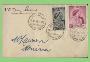 British Solomon Is. 1949 KGVI Silver Wedding First Day Cover