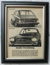 #15 - Glas 1304 CL & 2600 V8: Original Werbung 1960er Jahre gerahmt 13x18cm