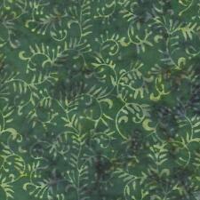 ANTHOLOGY BATIK #604 DARK GREEN Cotton Fabric BTY Quilting Craft Etc