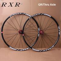 RXR MTB Mountain Bike 26/27.5/29er Wheel set Front Rear Carbon Hub QR/Thru Axle