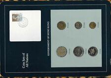 Coin Sets of All Nations Hong Kong 1985-1996 UNC $1 1996 $2,$5 1993 SCARCE