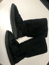 UGG S/N 5815 Classic Black Suede Tall Boots Women's Size 6 U2