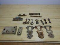 PARTS LOT: Vintage Shutter Hinge Latch Antique Salvage Hardware Lock Salvage.