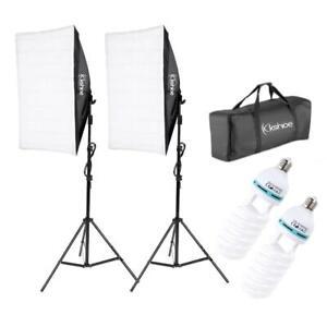 2x Profi Fotostudio Foto Studioset Softbox Studio Fotolampe Stativ Tasche