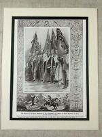 Royal Attendants Coronation of King George V 1910 Genuine Antique Print