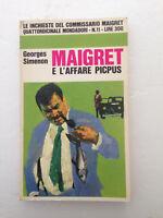 G. Simenon Maigret e L'affare Picpus  n.11 1966 Mondadori