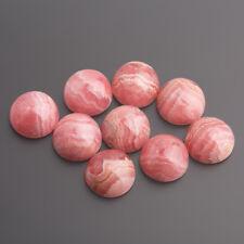 Rhodochrosite Cabochon Round 9 mm Pink-White/Box