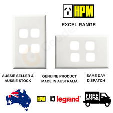 Cover Plate to suit HPM Excel 4 Gang Switch / Dimmer / TV Data (XLP770/4PLWE)