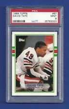 1989 TOPPS #67 DAVID TATE ROOKIE RC PSA 9 MINT POP 2 CHICAGO BEARS COLORADO