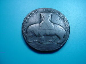 British ~ 1792 Coventry Condor 1/2 Penny with Lady Godiva!
