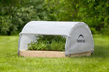 4x4 Round Raised Bed Greenhouse ShelterLogic Grow Plants Garden Vegetable 70617