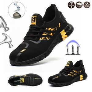 Men Womens Safety Shoes Work Trainers Steel Toe Cap Lightweight Hiking Boots New