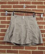 Sahalie Womens Skort Shorts Skirt Sz 10 Tennis Golf Nylon Brown Active Sports