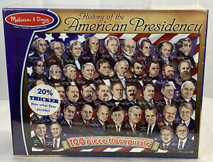 Melissa & Doug History Of The American Presidency Puzzle 100 Pieces