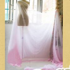 2 Yds Pink White shade Gradual 30D Chiffon Fabric Dancing Dress material Gauze