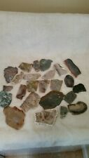 Lot Of Rock And Mineral Slabs For Cabbing Lapidary Display. Over 3lbs