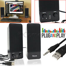 Portable USB Powered Multimedia Stereo Speakers System For PC Laptop Computer TV