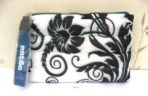 Estee Lauder Blue & White Patterned Make Up Bag New