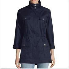 NEW!! Jones Women's Navy Stand Collar Safari Anorak Jacket Size Medium