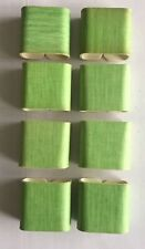 Vintage Plastic Square Green Napkin Rings Holders- set of 8
