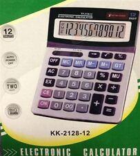 New Electronic Desk Top Calculator 12 Digit Display 2 Memory Dual Power