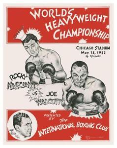 Rocky Marciano vs Jersey Joe Walcott  *LARGE POSTER* Boxing Heavyweight Champion