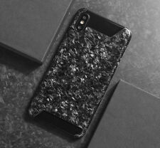 Real Carbon Fiber Forged Composite Mobile Phone Case Half Cover For iPhone X 10