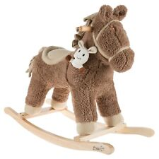 Wooden Rocking Horse Stuffed Animal 2-4 Yrs Sturdy and Cuddly