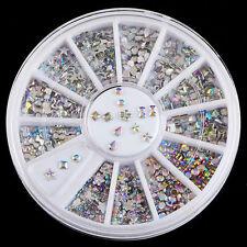 Charm 3D Glitter Rhinestone 6 Style Acrylic Nail Art Tips Crystal Decoration U87