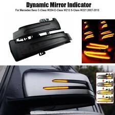 L&R Dynamic LED Side Mirror Indicator Turn Signal Light For Mercedes CLA CLS GLK