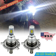 H4 9003 HB2 HS1 Motorcycle Hi/Low Beam LED Headlight Bulb Kit 8000LM 6000K
