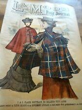 ANCIENNE REVUE LA MODE DU PETIT JOURNAL AVEC PATRON BLOUSE ELEGANTE N°29 1901