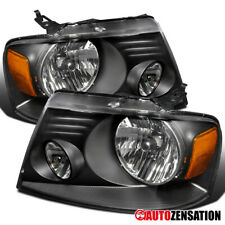 For 2004-2008 Ford F150 2006-2008 Lincoln Mark LT Euro Black Headlights Lamps