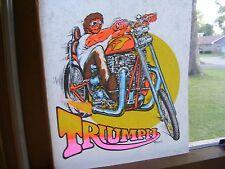 Original Vintage 1972 Roach TRIUMPH CHOPPER Iron On Heat Transfer LAST ONE!!!