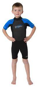 Hyperflex Children's Access Shorty Spring Suit Wetsuit 2.5mm Size 2-8 Black/Blue