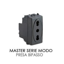 MASTER SERIE MODO PRESA BIPASSO 10/16A 2P+T CODICE 31159 GRIGIO