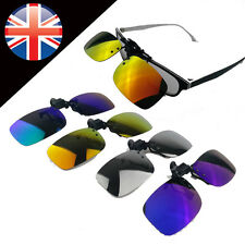Fashion Polarized Day Night Vision Clip-on Lens Driving Glasses Sunglasses FPLA