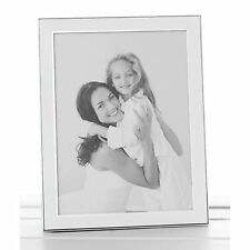 Plain White Silver Promotion Frame 6 x 8 Anniversary Photo Picture Gift Novelty