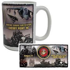 Vanguard Coffee Mug USMC Marines MCAS Cherry Point, North Carolina EGA Harrier