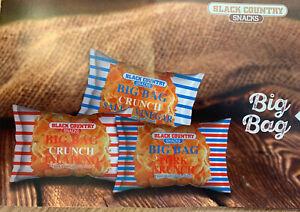 9 x Packets of 80g Big Bag Pork Scratchings (Pork Crunch) 3 of Each Flavour Keto