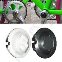 20mm Chrome Bicycle Bike Bottom Bracket Crank Dust Proof Cover Caps Black/Sliver