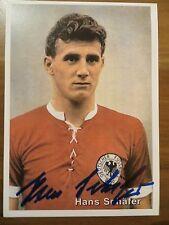 Handsignierte AK Autogrammkarte *HANS SCHÄFER* DFB Deutschland Köln WM 1954 RAR